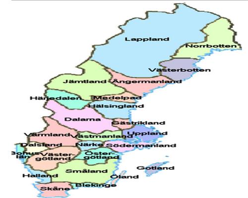 Regiones de Suecia